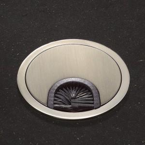 Kabeldurchführung mit Bürste, Edelstahl, Abdeckung 66 mm