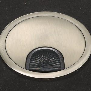 Kabeldurchführung mit Bürste, Edelstahl, Abdeckung 88 mm